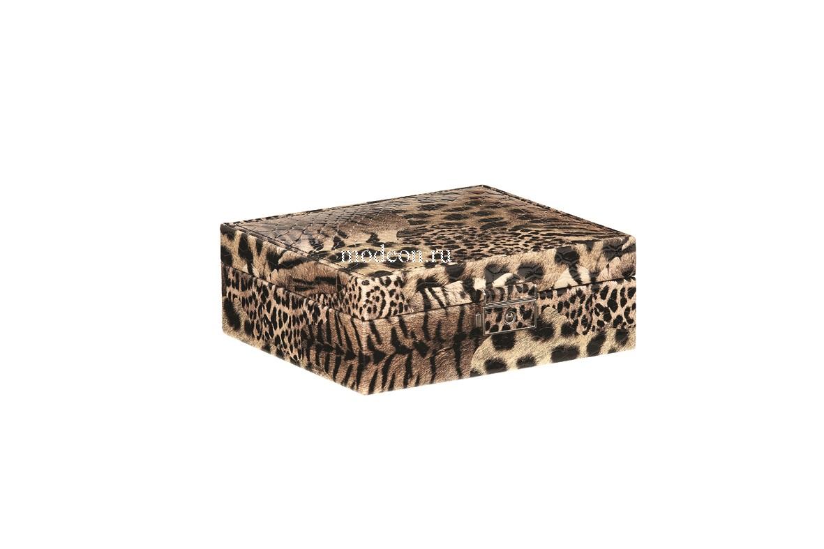 Шкатулка для украшений (колец и сережек) Лаковый леопард