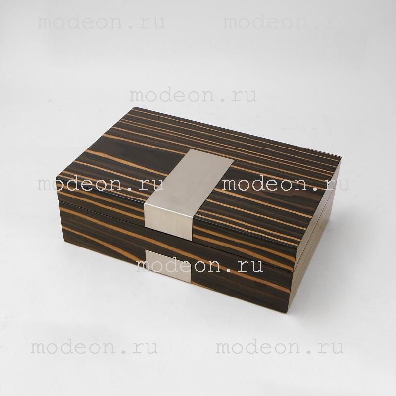 Шкатулка для запонок и часов Венге, мод1