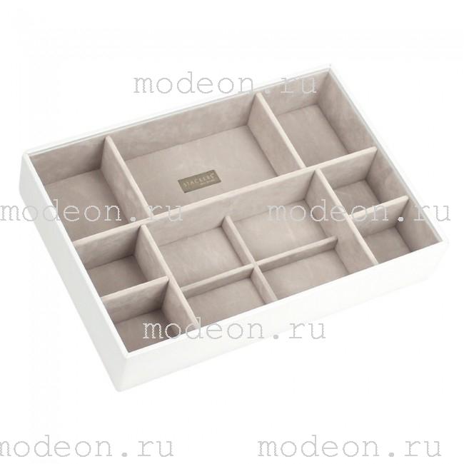 Открытая шкатулка для ювелирных ювелирных украшений Бартон-3, белая