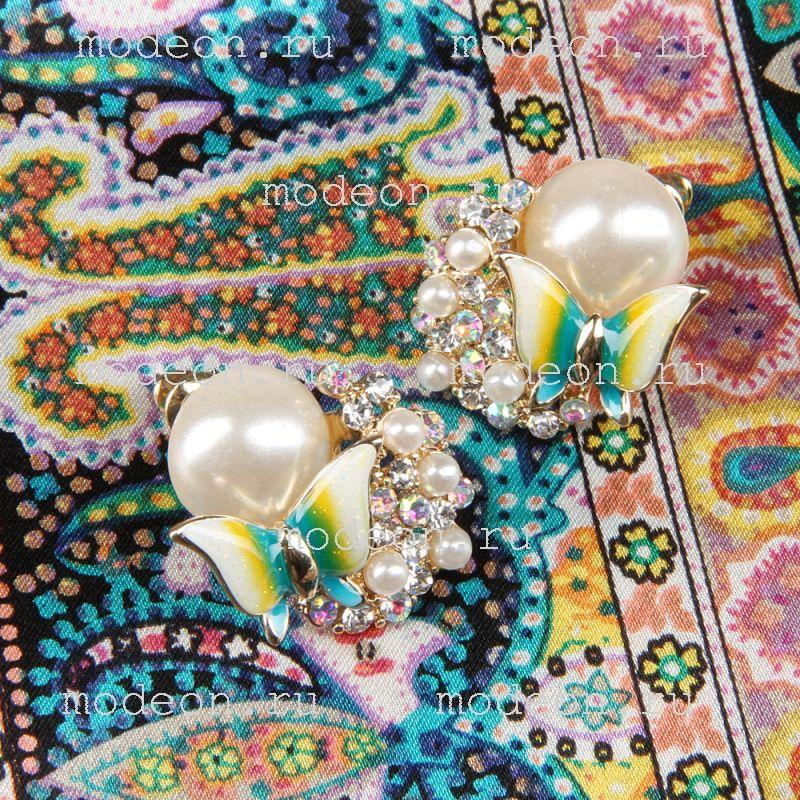 Подарочный набор на 8 Марта Платок и серьги, моноколор