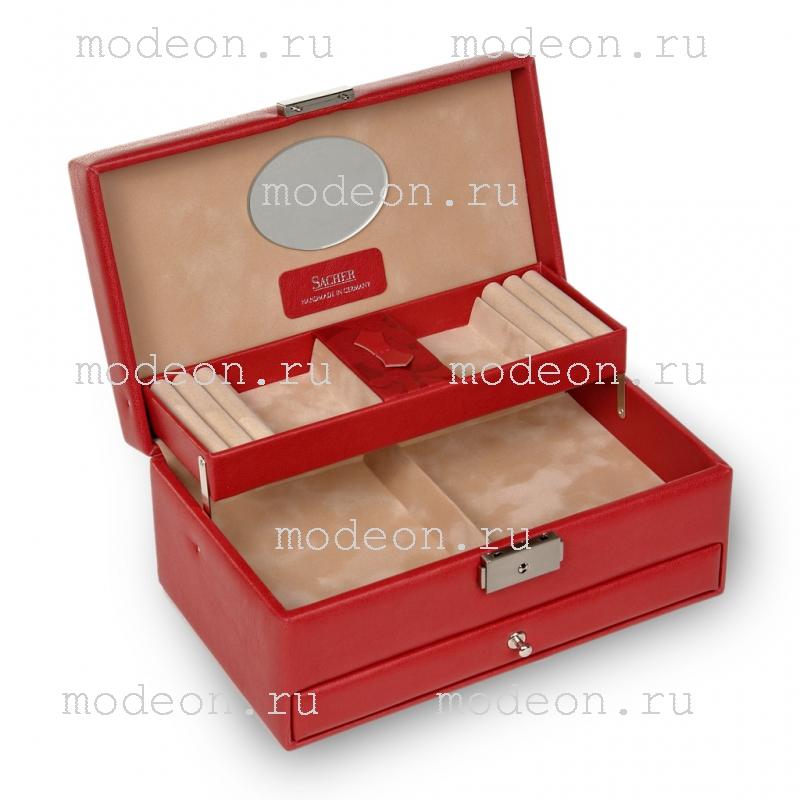 Шкатулка для украшений Hanna, Red flowers, SACHER
