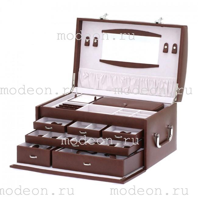 Сундук для украшений Кодовый замок, коричневая, Davidts