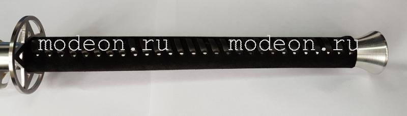 Ложка-бита для обуви Меч Черная замша