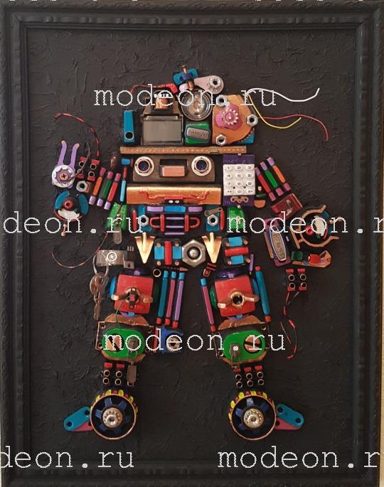 Панно настенное цветное Робот.