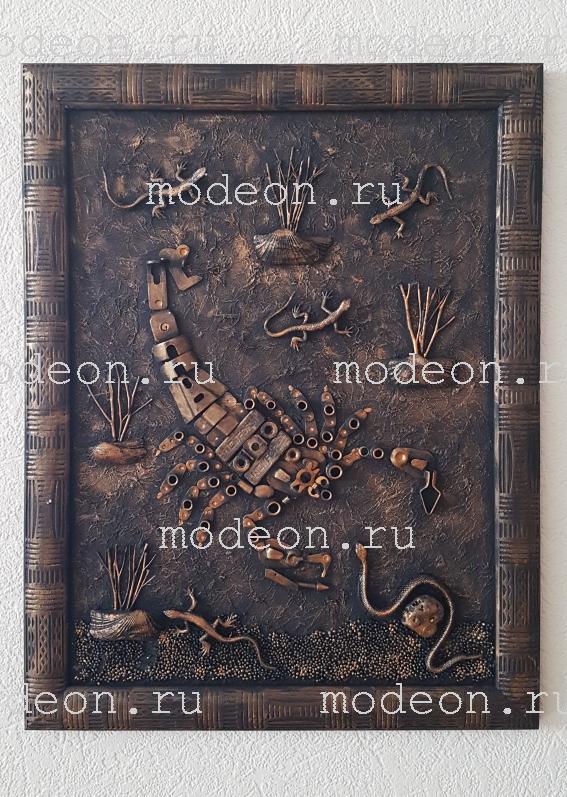 Панно настенное ручной работы Скорпион