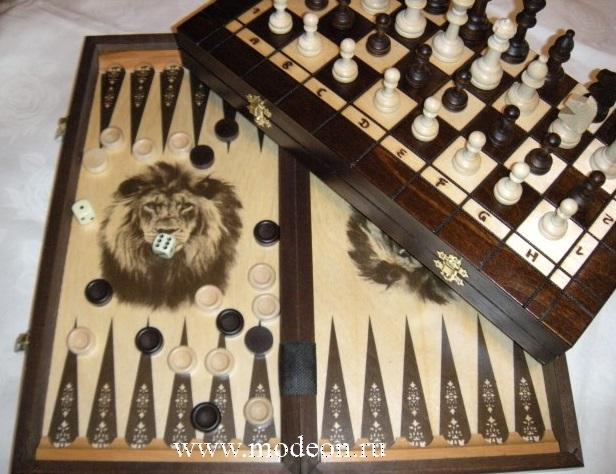 Шахматы, шашки, нарды Лев большой