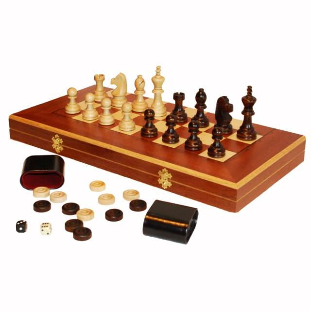 Шахматы, шашки, нарды Королевские, вишня