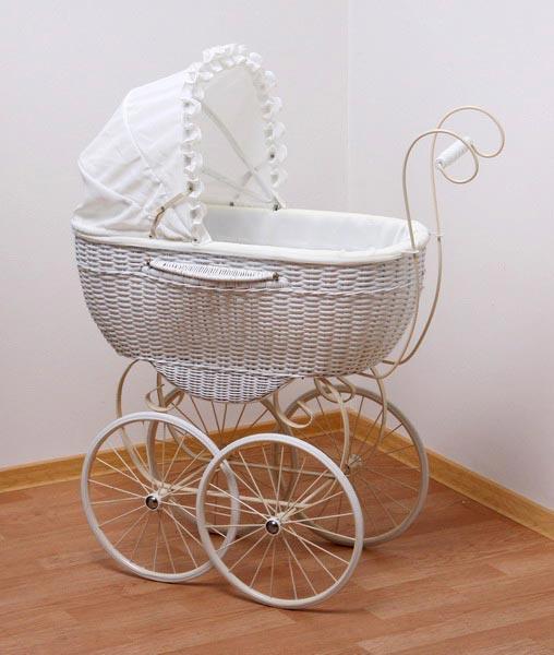 Большая плетеная коляска для куклы Принцесса, hr-82см