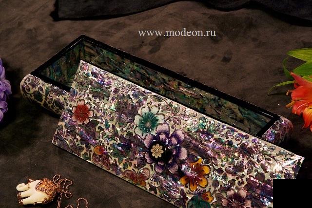 Перламутровый пенал Цветы Евы