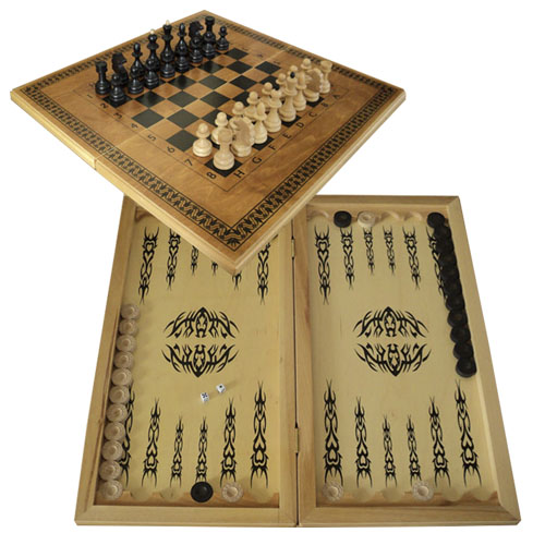 Шахматы, шашки, нарды Big size